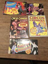 "CHIMERA CIRCUS OF Souvenir Program and Poster 18"" x 24"" 5 Piece Lot"