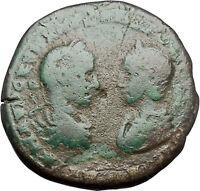 SEVERUS ALEXANDER & JULIA MAESA 222AD Marcianopolis Nemesis Roman Coin i48713