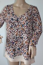 SANDWICH LADIES CASUAL TOP / BLOUSE IN MULTI-COLOURED ABSTRACT PRINT SIZE 38