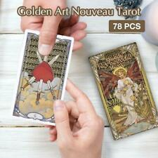 78 Cards Golden Art Nouveau Tarotkarten Deck Home Party Family Board Game Cards