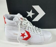 CONVERSE White Red Pro Leather Scoop High Top Sneakers Shoes