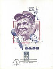 "#2046 Babe Ruth FDC on Marq 8.5"" x 11"" Card"