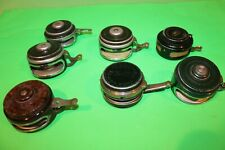 VINTAGE LOT OF 7 AUTOMATIC FLY FISHING REELS