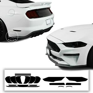 Fits 18-21 Ford Mustang Complete Head Tail Light Smoke Tint Kit Cover Accessory