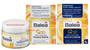 Day & Night Cream Anti-Aging With SPF15 Q10 Plus 2 Packs Each 1.69 oz NEW Balea