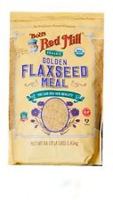64oz Organic Whole Ground Golden Flaxseed Meal Bob's Red Mill 4lbs Total