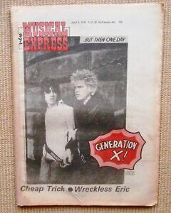 NME 1978 APR 8 GENERATION X BILLY IDOL WRECKLESS ERIC STIFF CHEAP TRICK DEVO