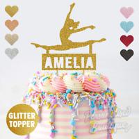 Personalised Custom Glitter Cake Topper, Ballet Ballerina Girls Birthday Party