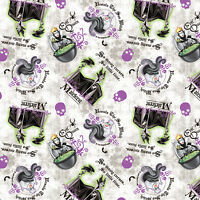 Disney Villains Patch 100% Cotton Fabric by the Yard
