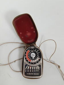 Vintage Weston Master IV Model S461-4 Universal Exposure Light Meter + case