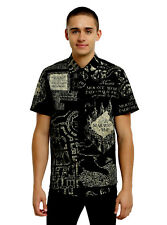 Harry Potter Marauder's Map Short Sleeve Woven Button-Up MENS S OFFICIAL NWT NEW