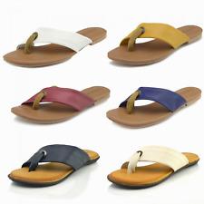 Ladies Leather Summer Sandals Cross Strap Sliders Women Genuine Leather FlipFlop