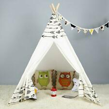 Large Cotton Canvas Kids Teepee Tent Childrens Wigwam Indoor Outdoor Play House