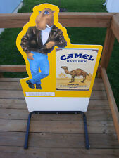 """Vintage 1991 JOE CAMEL Hard Pack, Cut-to-shape, CURB SIGN. 45"""" x 25"""". NEW in BOX"""