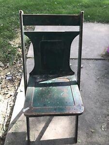 Vintage Metal Chair Bright Green