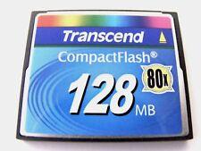 128 MB Compact Flash Karte 80x ( 128MB CF Card ) TRANSCEND gebraucht