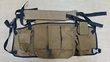 More details for rare genuine sf sadf south african army m83 nutria brown chest rig webbing
