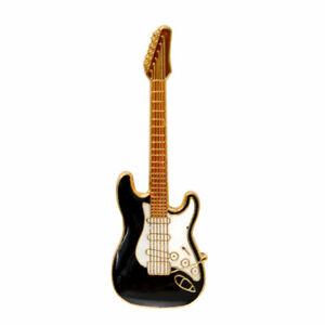 Black Electric Guitar Pin