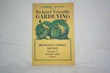 FARMER'S ALMANAC Guide to Backyard Vegetable GARDENING - 1975