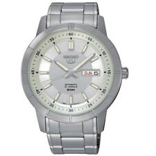 Seiko 5 SNKN51 K1 Silver Dial Automatic Men's Large Analog Watch