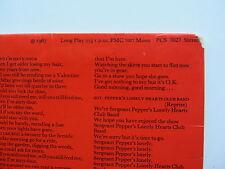 Los Beatles Sgt Peppers Raro 1969 Reino Unido Estéreo transistion Mono/estéreo Manga