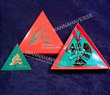 SWAROVSKI 1992 annual snowflake ornament second in series mint in box + COA !