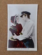 Gary Cooper & Frances Dee p234 Film Partners Real Photo Postcard xc2