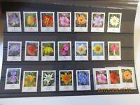 Sammlung Rollenmarken Blumen Werte 0,05 - 4,30 €uro Nominale allein 22 €