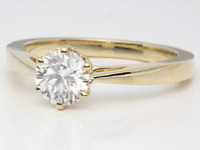 18ct Yellow Gold Over Diamond Solitaire Ring Engagement 1ct Carat