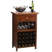 Winsome Vicenza 20-Bottle Wine Table with Glass Storage