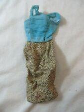 Vintage Original Barbie Gold n Glamour #1647 Dress TLC