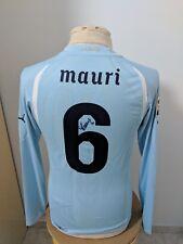 Maglia Lazio 2010 11 n 6 Mauri match worn shirt jersey Lazio camiseta signed