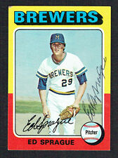 Ed Sprague #76 signed autograph auto 1975 Topps MINI Baseball Trading Card