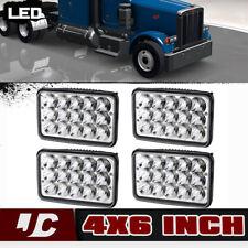 4x LED H6545 Headlight Sealed Hi/Lo Beam Bulb For Kenworth Peterbilt 378 357 379