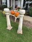 antique marble posts planters pair architectural salvage