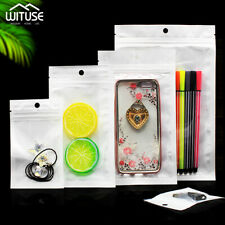 Plastic Retail Package Bags Gift Food Zip Lock Packing Pouch Heat Seal 50Pcs AC