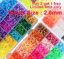 2.6mm Mini 500/ 1000/2000 pcs HAMA/PERLER BEADS for Kids Gift GREAT 60 COLORS +