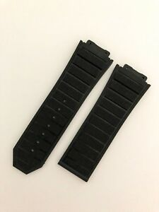 Black SILICONE/RUBBER 29/24mm STRAP/BAND FIT HUBLOT F1 Big Bang Watch