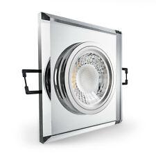 LED Einbaustrahler Spot Glas-AluCristal Einbauleuchte Set GU5.3-12V GU10-230V