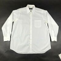 Bergdorf Goodman Button Down Shirt Mens L Custom Made White Spread Collar #2