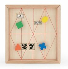 Kikkerland PERPETUAL CALENDAR AND STATIONERY BEECHWOOD STORAGE BOX CAL52