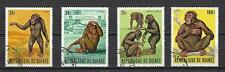 Animaux Faune sauvage singes Guinée (135) série complète 4 timbres oblitérés