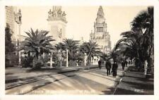RPPC Tower of Jewels, Avenue of Palms, San Francisco PPIE 1915 Vintage Postcard