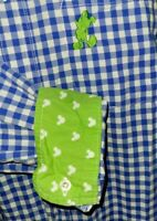 Disney Parks Authentic Mickey Mouse Button-Up Shirt Large Blue White Gingham