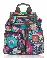 Lily Bloom Sunflower Peace Riley Backpack Blue/Grey Multi Shoulder Bag Purse