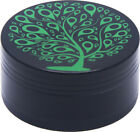 2.1 Inch 52 mm 3 Piece Tobacco Herb Grinder Spice Tree of Life photo