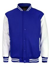 New Men's Premium Classic Snap Button Vintage Baseball Letterman Varsity Jacket
