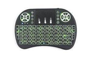 20pcs/lot dhl free I8 2.4GHz Backlit Wireless Mini Keyboard Air Mouse Remote