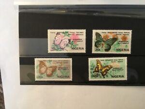 NIG2001 NIGERIA 1962 Butterflies complete set of 4  - MNH
