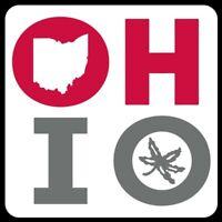 O H I O MAGNET Buckeyes Ohio State Custom Red White Car Toolbox Fridge